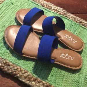 Sugar brand electric blue sandals EUC